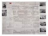 This 'Titanic' Deck Plan Is Really a Modification of That of the RMS Olympic. Photographic Print