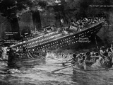 Titanic Sinking. Artist's Impression (Illustration) of the White Star Liner. - Fotografik Baskı