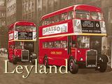 Leyland Bus Tin Sign