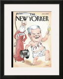 The New Yorker Cover - January 2, 2012 Framed Giclee Print by Barry Blitt