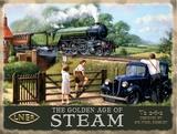 The Golden Age of Steam Blikkskilt av Kevin Walsh