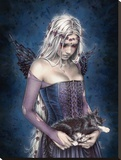 Victoria Frances-Angel of Death Stretched Canvas Print
