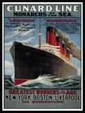 Cunard Line Plechová cedule