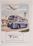 A.E.C. Bus & Plane Tin Sign