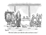 """Her last wishes were that her ashes not leave a mess."" - New Yorker Cartoon Premium Giclee Print by John Klossner"