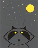 Raccoon (Glow in the Dark) Siebdruck von  Hero Design