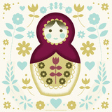 Russian Nesting Doll Serigraph by  Hero Design