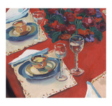Red Dining Limited Edition by Valerie Johnson