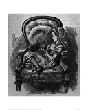 The Black Kitten Giclee Print by Sir John Tenniel