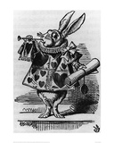 Rabbit with Trumpet Lámina giclée por Sir John Tenniel