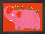 The Elephant and the Frog Posters by Nathalie Choux