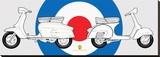 Haynes-Lambretta & Vespa Stretched Canvas Print