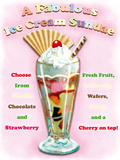 Ice Cream Sundae Tin Sign