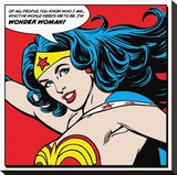 Wonder Woman-Quote Stretched Canvas Print