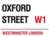 Oxford Street Blechschild