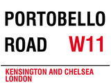Portobello Road Tin Sign