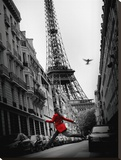 La Veste Rouge Stretched Canvas Print