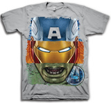 The Avengers - Tri Face T-paidat
