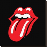 Rolling Stones-Lips Stretched Canvas Print