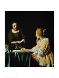 Woman with Maid and Letter Giclee Print by Jan Vermeer