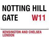Notting Hill Gate Plechová cedule