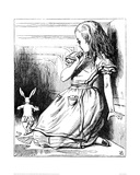 Alice Grown Tall Giclee Print by John Tenniel