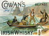 Cowans Irish Whisky Cartel de chapa