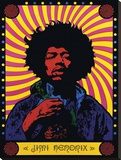 Jimi Hendrix-Psychedelic Stretched Canvas Print