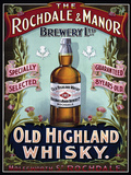 Rochdale & Manor - Old Highland Whisky Cartel de chapa