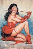 Bettie Page Red Print