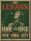John Lennon-Concert Stretched Canvas Print