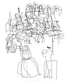 Orchestre, c.2009 Serigraph by Cédric Chauvelot
