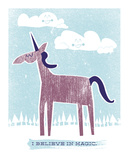 Chadwick: Unicornio Serigrafa por Hero Design