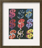 $9, c.1982 (on black) Posters by Andy Warhol