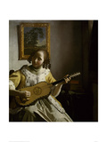 Guitar Player Giclee Print by Jan Vermeer