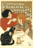 Compagnie française des chocolats et des thés Plaque en métal