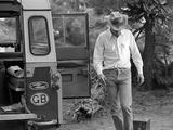 Actor Steve McQueen on a Camping Trip in the Sierra Madre Mountains, California, May 1963. Premium fotografisk trykk av John Dominis