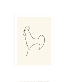 Coq-Detail, c.1907 Silketrykk av Pablo Picasso