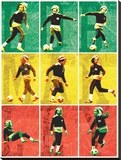 Bob Marley-Football Stretched Canvas Print