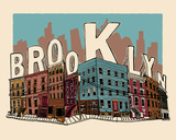 Brooklyn Silketrykk av  Hero Design