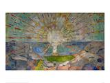 Solen Posters av Edvard Munch