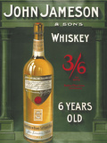John Jameson 6 Years Old Placa de lata
