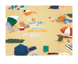 Beach Day Collectable Print by Valerie Johnson