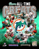 Miami Dolphins All Time Greats Composite Photographie