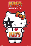 Hello Kitty- I Love Kiss Pósters