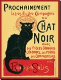 Chat Noir Reproduction transférée sur toile par Théophile Alexandre Steinlen