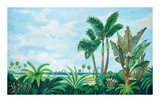 Barbados Palms Edition limitée par Valerie Johnson