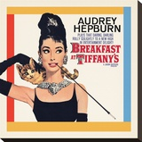 Audrey Hepburn-Breakfast at Tiffany's One-Sheet Reproduction transférée sur toile