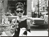 Audrey Hepburn (Window) Stretched Canvas Print