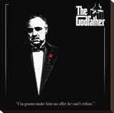 The Godfather-Red Rose Stretched Canvas Print